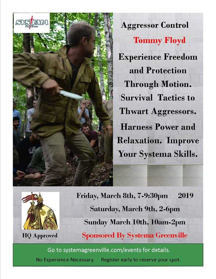 Tommy Floyd 2019 Systema Russian Martial Art